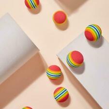 Rainbow Ball Training Practice Chew Toys Dog Cat Fetch Catch Balls S7O8