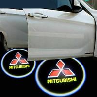 LED Logo Mitsubishi 2x Tür Shadow Licht Einstiegsbeleuchtung Projektor for Alle