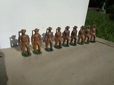 RARE WILLIAM FEIX LEAD TOY SOLDIERS ROUGHRIDER INFANTRY LOT OF 9-1920'S