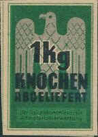 Stamp Germany Revenue WWII 3rd Reich Era Knochen 1KG MNG