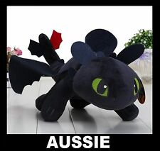35cm - 40cm TOOTHLESS PLUSH SOFT TOY ~ How To Train Your Dragon 2 Night Fury NEW