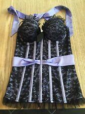 ANN SUMMERS Halter Neck Lace Basque Corset Size 10 'Cora' RRP £60 Moulin Rouge