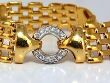 18KT .50CT NATURAL ROUND DIAMONDS CIRCLE LINK BRACELET 50 GRAMS POPE BRICK DECO