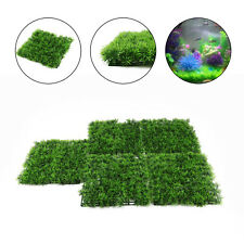 5X Aquarium Ornaments Artificial Grass Lawn Fish Tank Landscape Water Decor UK