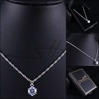 Original Kette Halskette *Zirkonia* Silber Damen, Swarovski Elements, im Etui