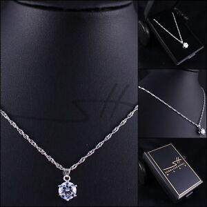 Halskette Zirkonia Geschenk, Kette Damen, Silber, im Etui, Schmuckhandel Haak®