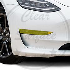 Fits Tesla Model 3 Fog Light Precut Yellow Vinyl Tint Kit Overlays Wrap Cover