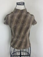 Vintage 90s Alberto Makali Scrunchie Pleated Sequin Top Size Small