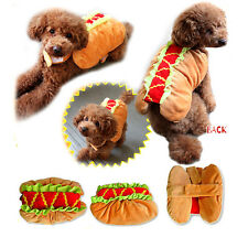 Hot Dog Yes Xs-xl Dress up Costume Y2r3 Adjustable Clothes Dachshund Puppy Pet L