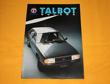 Talbot Solara 1982 Prospekt Brochure Depliant Catalog Prospetto Prospecto Simca
