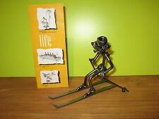 HINZ & KUNST *NEW* Sujet en fer Skieur H.15cm