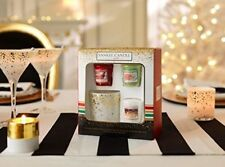 Yankee Candle 3 Votive and 1 Votive Holder Gift set in presentation box