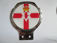 Northern Ireland Badge Bar Badge/ chrome plated metal/gel insert/ 92 x 108mm