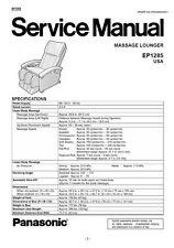 Panasonic EP1285 Massage Lounger Chair Service Manual Repair Guide