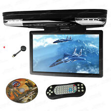 """15.6"""" Car Flip Down Roof Overhead DVD Player Monitor +Screen Mirroring Adapter"""