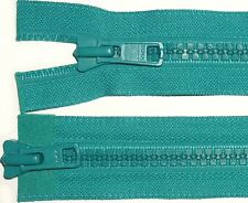"""YKK JEAN ZIPS BRASS TEAL GREEN CLOSED END X5-5/"""" 6/"""" /& 7/"""" NO 4 FREE P/&P"""