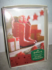 HALLMARK Vintage Western Cowboy Holiday Christmas Cards Southwest Regional 18ct