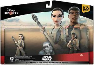 OFFICIAL Disney Infinity 3.0 Star Wars The Force Awakens Playset Rey Finn New