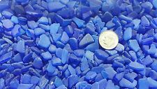 "Sea Glass - 40 mini pieces of ""Craft Quality"" Cobalt Blue"