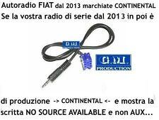 Cavo Aux Fiat Panda 2013 [NO SOURCE AVAILABLE] solo autoradio CONTINENTAL mt.1,4