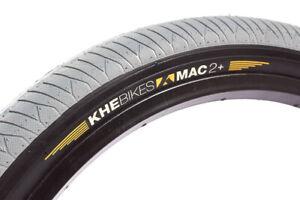 "KHE BMX Bike Tyre Standard Street-Park Mac2+, 20"" x 2.30"", Gray-Black Sidewall"