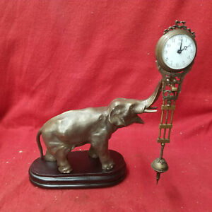Elephant Mystery Swinger Clock--Excellent Display Clock With Motion