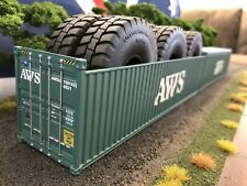 **SPECIAL PRICE** 1/50 Container AWS 40' Open Top  O Gauge Loads Diorama