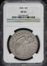 1846 Seated Liberty Dollar NGC AU-53