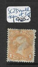 CANADA (P0909B) LARGE QUEEN 1C SC 23 SMALL TEAR AT LEFT FU