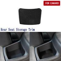 Real Carbon Fiber Rear Seat Storage Decorative Trim For Chevrolet Camaro 2017-19