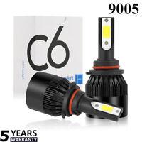 2x 72W Lampe Ampoule LED COB Voiture 9005 HB3 9000LM Phare Kit Étanche 6000K