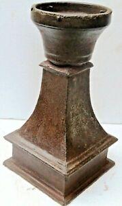 VICTORIAN ERA CAST IRON LAMP POST Light Pole square base design newel Decor Part