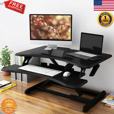 Ergonomic Height Adjustable Standing Laptop Desk Sit To Stand Riser Workstation