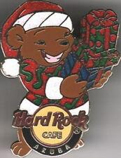 Hard Rock Cafe ARUBA 2008 Christmas TEDDY BEAR PIN - LE 300 - HRC Catalog #47122