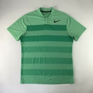 Nike Golf Tiger Woods TW Zonal Cooling Blade Collar Polo Mock Neck Shirt Men's L