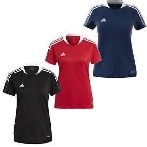 Womens Adidas Tiro 21 Jersey Soccer T-shirt Short Sleeve Training Top NEW