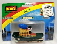 BRIO Wooden Theodore Tugboat Boat Barge Ship (Hank) Original packaging! Rare!!