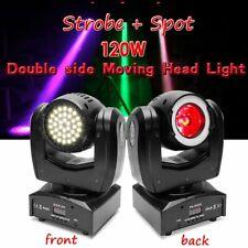 120W Double Side LED RGB Spot Beam Moving Head DMX Stage Lighting DJ Strobe Club