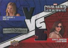 Captain America Civil War Costume Card BBV-BS Emily VanCamp & Scarlett Johansson