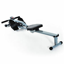 Rowing Machine 12 Level Resistance Cardio Workout Exercise Rower w/ LCD Monitor
