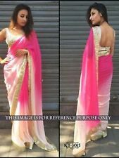 Bollywood Designer Party wear Pink & White color Shaded  Saree