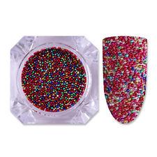 4g BORN PRETTY Red Caviar Nail Beads Mixed Color 0.6-0.8mm Micro 3D Nail Decor
