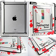 Bumper Frame Case Cover For Apple ipad 2/3/4 Tablet + Screen Protector Film