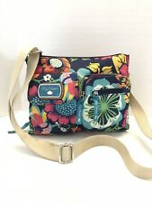 Lily Bloom Messenger/Cross Body Bag Flowers Pockets 100% Recycled Polyester