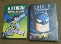 ■LOT C■ Batman and Friends + Batman DC Comics Super Villains Killer Croc DVDs