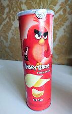 ANGRY BIRDS Potato Crisps Chips Sea Salt Flavor Pringles Style Can 160g 5.6oz