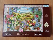 House Of Puzzles BIG 500 Piece Jigsaw Puzzle 'Harvest View'
