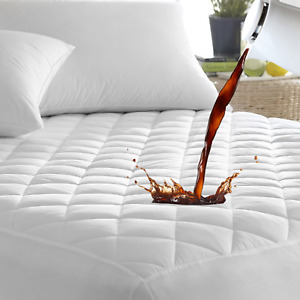 Waterproof Quilted Mattress Protector ~Quilts Bed Topper Single Double King Size