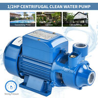 1/2HP Electric Centrifugal Clear Clean Water Pump Industrial Farm Pool Pond