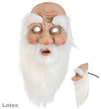 Nikolaus Halbmaske Latex, Santa Claus, Weihnachtsmann mit Bart